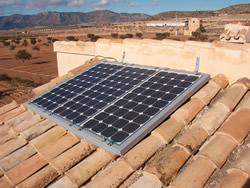 Panel solar sin conexión a red