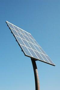 Placa solar en alto